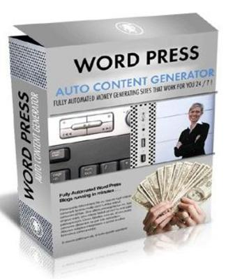 Product picture Word Press Auto Content Generator