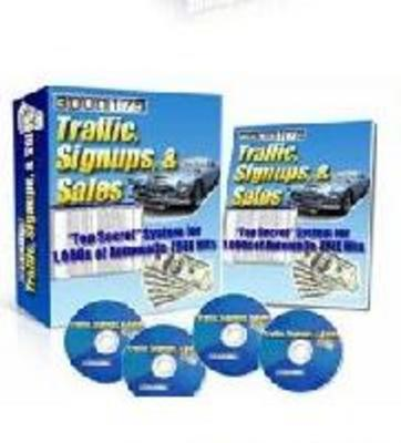 Product picture *ALL NEW!* Traffic, Signups, Sales - MASTER RESALE RIGHTS IN